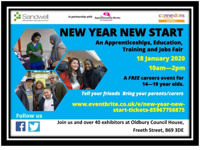 New Year New Start 2020 Connexions Sandwell